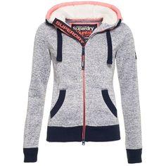 Superdry Storm Zip Hoodie ($80) ❤ liked on Polyvore featuring tops, hoodies, blue, women, zip hoodies, blue hoodie, sweatshirt hoodies, blue zip hoodie and zipper hoodies