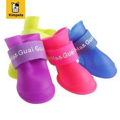 4Pcs/Set Pet Shoes Dog Shoes Winter Pet Dog Boots Waterproof Pet Shoes Dog Rain Shoes for Non Slip Dogs