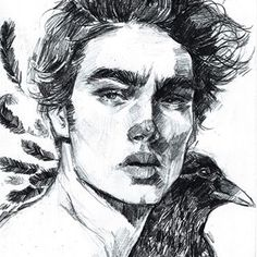 Look ma I drew a guy. Dis raven is dedicated to all da ravens on this season of GoT delivering messages as fast as emails. You da real season MVP. #dailysketch #pencilsketch #pencildrawing #illustration #portrait