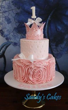 Pink cake by sandy's cakes