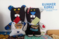 Kummertier - Kummer Korki (Nähanleitung samt Schnittmuster von shesmile) Nähen mit Kork, Leder oder SnapPap.