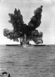 Nazi Submarines of WWII: December The former German minelaying submarine is blown up by experimental torpedoes fired from the United States Atlantic Fleet, forty miles northeast of Cape Cod, Massachusetts. (Photo by Keystone/Getty Images) Us Navy Submarines, German Submarines, Naval History, Military History, Women's History, British History, Ancient History, American History, Native American