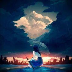 Imagen de paisaje anime