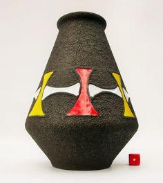 Rare Ilkra Vase Fat Lava West German Pottery Mid Century Modernist Pop Art 21cm