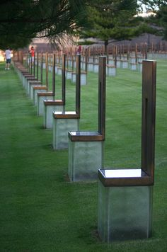 Oklahoma City Memorial - Oklahoma City, Oklahoma.....A must see. You won't be able to visit it without crying.