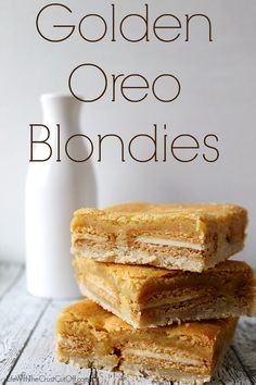Golden Oreo BlondiesLife With The Crust Cut Off