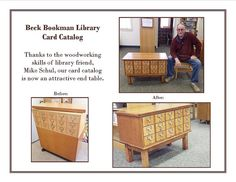 """Card Catalog Table,"" by BeckBookman Library, via Flickr"