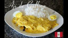 Como hacer Aji de Gallina : 1 Papa 1 Huevo 1 Pecho de Pollo 1 Cucharada de ajo 1 Cebolla 2 Cucharadas aji amarillo 1 sustancia de pollo 3 Pan frances Media t...