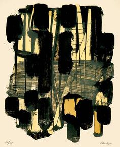 """""""Lithographie No 11"""", by Pierre Soulages (1963)"""