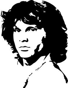 This is a collection of vector patterns of famous people from around the world who have left a significant mark in the history of mankind Jim Morrison, Foto Beatles, Dibujos Pin Up, Stencil Templates, Vector Portrait, Stencil Art, Stencil Graffiti, Silhouette Art, Arte Pop