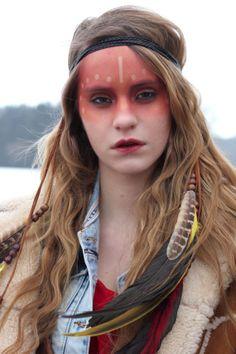 Fascia di piuma festival corona in pelle copricapo di di rougepony