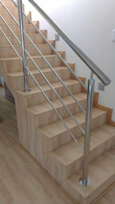 New modern stairs railing ideas stainless steel Ideas Stairs Design Modern Ideas Modern Railing Stainless Stairs steel Steel Stairs Design, Staircase Railing Design, Modern Stair Railing, Interior Railings, Balcony Railing Design, Stair Handrail, Modern Stairs, Interior Stairs, Railing Ideas