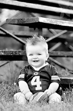 I wish that Hunter would sit still long enough for a picture like this..but in a Dallas Cowboys jersey!
