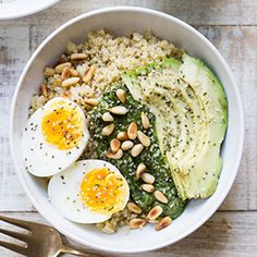 Pesto - quinoa ontbijt
