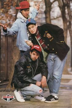 The Beastie Boys were part of the pioneers of rap/hip-hop. I remember when License To Ill came out, I played it so much I knew every single word to every song & still pretty much do! Brass Monkey was my jam! Kim Gordon, Beastie Boys, 80s Hip Hop, Hip Hop Rap, Kim Deal, Hip Hop Fashion, Boy Fashion, Hip Hop Bands, 17th Century Fashion