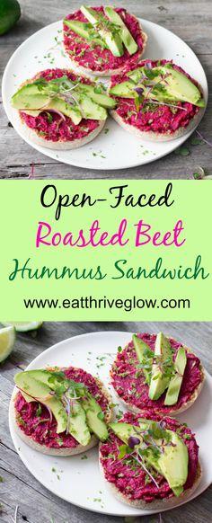 Open-Faced Roasted Beet Hummus Sandwich