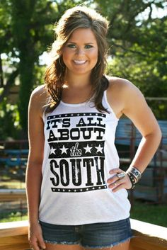"""New addition to the ATX Mafia tank collection! """"IT'S ALL ABOUT THE SOUTH""""! #atx #southern #south"""