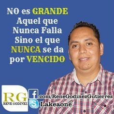 NO es GRANDE aquel que Nunca falla si no el que NUNCA se da por VENCIDO http://vipteamlatino.com/emprendedorenlinea/