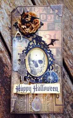 Altered & Inked with a spocktacular tag using Tim Holtz, Ranger, Sizzix and Stamper's Anonymous products; Sept 2014