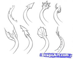 Step 6. How to Draw Easy Dragons   Dragon boats   Pinterest   How ...