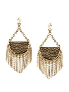 House of Harlow 1960 Crescent Dangle Earrings, House of Harlow 1960 Earrings $75.00
