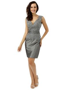 Cheap dress mother, Buy Quality mothers dresses for weddings directly from China mother dress Suppliers: Plus Size Gray 2017 Mother Of The Bride Dresses Sheath Knee Length Appliques Lace Wedding Party Dress Mother Dresses For Wedding Evening Party Gowns, Evening Dresses, Formal Dresses, Prom Dresses, Wedding Party Dresses, Bridal Dresses, Bride Groom Dress, Mothers Dresses, Silver Dress