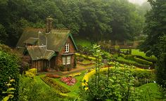 Scotland...love the way the grounds are set up- clear around the house, but shielded by forest on all sides...