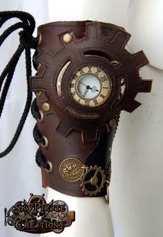 Steampunk Steampunk Pirate Leather Bracer - Bracelets & Wristbands
