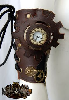 Steampunk Steampunk Pirate Leather Bracer - Bracelets & Wristbands