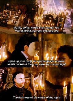 Music of the Night -- Phantom of the Opera. Gerard Butler is amazing in this part. I love that as I read these lyrics I'm actually hearing his voice. Gerard Butler, It's Over Now, Opera Ghost, Music Of The Night, Love Never Dies, Sing To Me, Phantom Of The Opera, Musical Theatre, Broadway Theatre