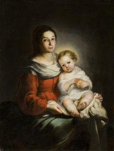 Virgin and Child / La Virgen y el Niño // ca. 1650 // Bartolomé Esteban Murillo // Museum Wuyts-Van Campen en Baron Caroly // #Christ #ChildJesus #VirginMary