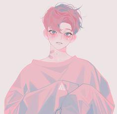 Anime, aesthetic, and boy image Korean Anime, Korean Art, Aesthetic Anime, Aesthetic Art, Kawaii Anime, Manga Art, Anime Art, Dibujos Cute, Anime Kunst