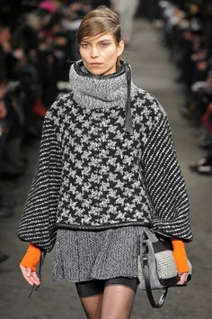Rag and Bone- New York Fashion Week FW13/14. Cool houndstooth pattern.