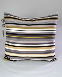 Pillows Down Feather, Duck Down, Yellow Stripes, Pillow Talk, Cotton Pillow, Back Strap, Hand Weaving, Pillow Covers, Throw Pillows