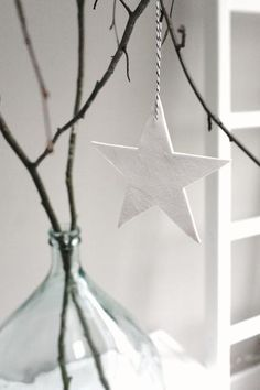 paper star ornament - christmas / winter