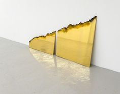 James Balmforth - Imperfect Detachment, 2014 Oxy-fuel severed 24k gold electroplated steel