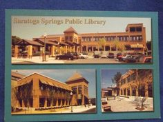 The Saratoga Springs Public Library was established in 1950. The 58,000 sq.ft. building pictured opened in 1995 and today has a collection of nearly 200,000 items.  The library features  a coffee shop, secondhand bookstore, and a particularly good local history collection.
