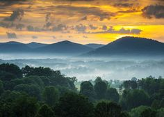 Free art print of Asheville NC Blue Ridge Mountains Sunset and Fog Landscape Photography near the Blue Ridge Parkway in Western North Carolina. Get up to 10 Gallery-Quality Art Prints for Free. Blue Ridge Parkway, Blue Ridge Mountains, Great Smoky Mountains, Mountain Sunset, Black Mountain, Mountain Music, Mountain Living, North Carolina Mountains, Smoky Mountain National Park