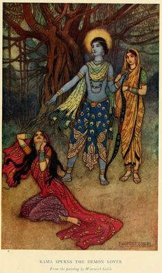 Mythology and Folklore UN-Textbook: Myth-Folklore Unit: Ramayana. This is a brief retelling of the Ramayana, an epic poem from ancient India about the adventures of the great Prince Rama, an avatar (incarnation) of the god Vishnu, preserver of the universe. Prince Rama marries Princess Sita, and when the evil demon king Ravana kidnaps the princess, Rama, aided by his brother Lakshmana and by the monkey-god Hanuman, raises an army of monkeys and bears to go and rescue her.