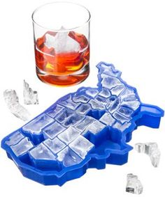 'U Ice of A' Ice Cube Tray. Maybe this would help me remember what the hell shape Delaware is again. Maybe something for https://Addgeeks.com ?