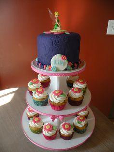 Tinkerbell cake  cupcakes