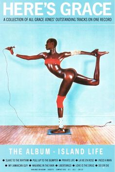 grace jones island life  retro poster by JustMemorabilia on Etsy, $7.99