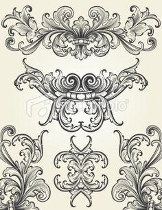 Baroque scroll