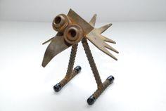 Vintage Steel Metal Rebar Nuts and Bolts Bird by Nogginsandnapes, $28.00