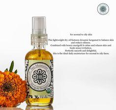 Marigold Bergamot Face Moisturizer from HollyBeth Organics. Artisan-crafted organic skincare.