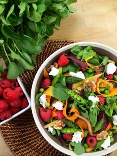 Make a fresh raspberry vinaigrette dressing to go along with @Cristina Ferrare 's spring watercress salad! #homeandfamily #homeandfamilytv #watercress #salad #spring #vinaigrette #RaspberryVinaigrette