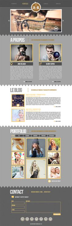JA-OL Photographes - Webdesign on Behance