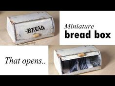 Miniature Bread Box (That Opens) - Tutorial - YouTube