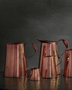 Ale pitchers were used in English pubs during the and Today, Stone sees people buying them for flowers. Copper Kitchen, Stainless Steel Kitchen, Martha Stewart, Sink Accessories, Copper Mugs, Copper Accents, Pot Rack, Cookware, Metal