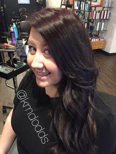 Dark brunette hair